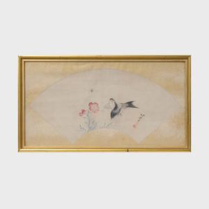 Attributed to Katsushika Hokusai (1760-1849):  Fish; and Bird