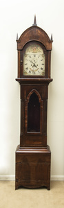 Neo-Gothic Mahogany Long Case Clock