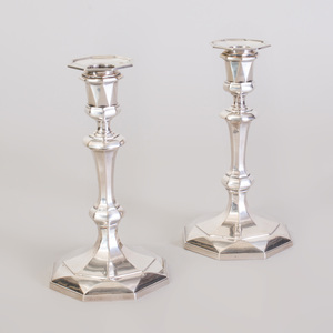 Pair of George V  Silver Candlesticks