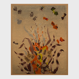 Attributed to Jean Lurçat (1892-1966): Compostion with Fish and Seaweed