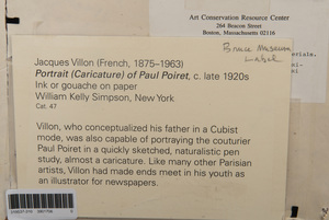 Jacques Villon (1875-1963):Portrait of Paul Poiret