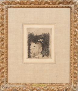 Paul Gauguin (1848-1903): Portrait de Stéphane Mallarmé