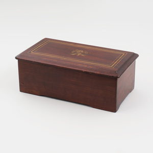 Small Mahogany and Parcel-Gilt Cylinder Music Box