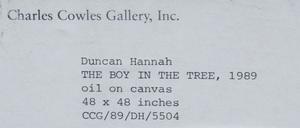 Duncan Hannah (b. 1952): The Boy in the Tree