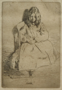 James McNeill Whistler (1834-1903): Annie Seated