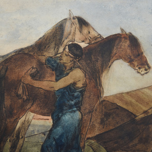 Eugène Fromentin (1820-1876): Study for 'Le Campement Arabe'