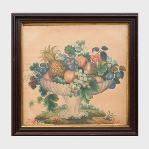 American School: Fluted Bowl with  Fruit