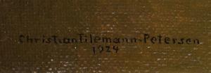 Christian Tilemann-Petersen (1874-1926): Lerchenbord (Interior)