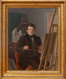 Danish School:  Portrait of an Artist at an Easel