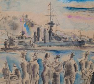 Hermine David (1886 - 1970):Port of Toulon