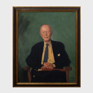 Byron Dobell (1927-2017): Portrait of William Kelly Simpson