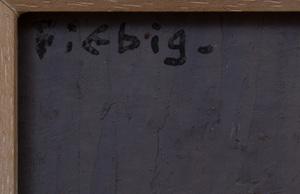 Frédèric Fiebig (1885-1953): Maman à Ladeneze; and Clocher le soir II