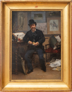French School: Portrait of Edouard Detaille in his Studio