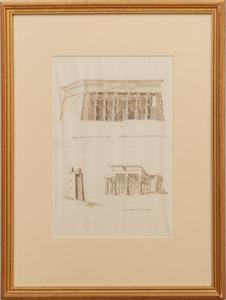 Italian School:  Five Studies of Egyptian Monuments