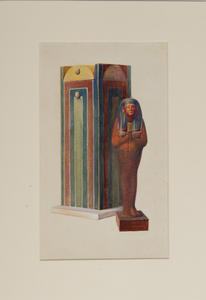 Howard Carter (1874-1939): Wooden Shawabti Figure of Iouiya