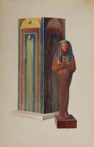 Howard Carter (1874-1939): Wooden Shawabti Figure of Iouiya