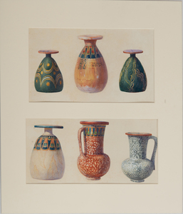 Howard Carter (1874-1939): Painted Dummy Vases of Wood