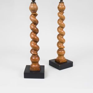 Pair of Barley Twist Table Lamps