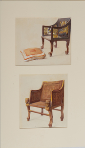 Howard Carter (1874-1939): Chair of Sat-Amon; and Chair with Cushion