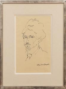 Henri Gaudier-Brzeska (1891-1915):Portrait of Ezra Pound