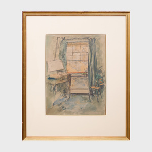 Edna Clarke Hall (1879-1979): Interior Scene