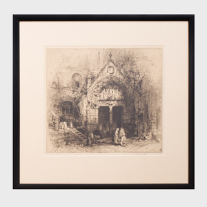 Hedley Fitton (1857-1929): Church of the Three Kings at Saint Emilion