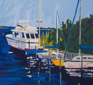 John F. Laub (1947-2005): Inlet Scene