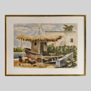 Fletcher Martin (1904-1979): Boat in a Sub-Tropical Setting