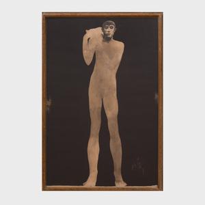 Luciano Mori: Standing Male Nude