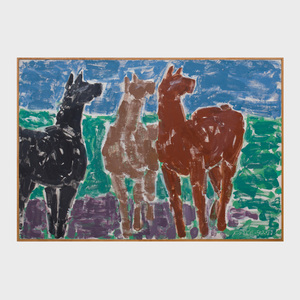 Stephen S. Pace (1918-2010): Black Horse/Brown Horse