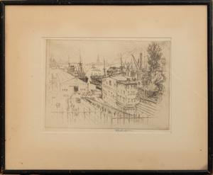 Joseph Pennell (1857-1926): New York Dock