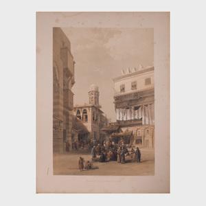 After David Roberts (1796-1864): Bazaar of the Coppersmiths,Cairo