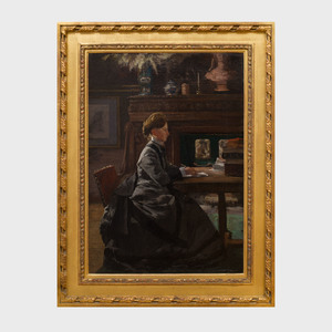 Attributed to Henri Rouart (1833-1912): Portrait of Mme. Rouart