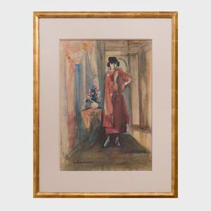 Carl Sprinchorn (1887-1971): Portrait of Florine Stettheimer
