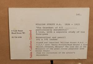 William Strutt (1856-1924): The Grandest of All