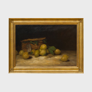 Paul Désiré Trouillebert (1829-1900): Still Life with Lemons