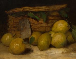 Paul Désiré Trouillebert (1829-1900): Still Life with Lemons
