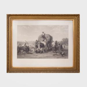 After Christian  Eduard Boettcher (1818-1889): Harvesting Hay