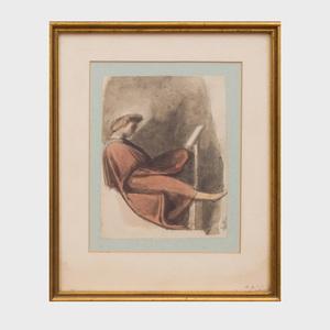 Joseph West (1795-1875): Study after Michelangelo, Sistine Chapel