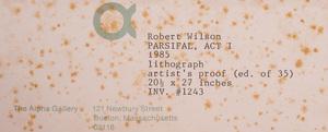 Robert Wilson (b. 1941): Parsifal, Act One