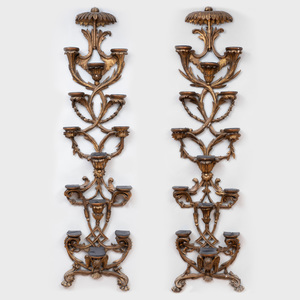 Pair of English Giltwood Wall Brackets