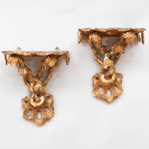 Pair of George III Carved Giltwood Wall Brackets