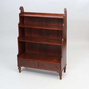 Late Regency Mahogany and Ebony Strung Dwarf Bookcase