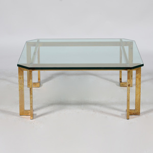 Brass and Plate-Glass Low Table