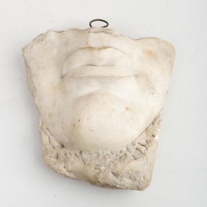 White Marble Fragment of a Face, After the Antique