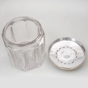 Goodnow & Jenks Silver Mounted Cut Glass Tobacco Jar