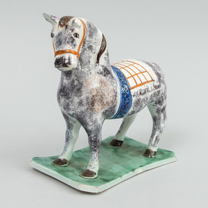 Staffordshire Pearlware Model of a Saddled Horse