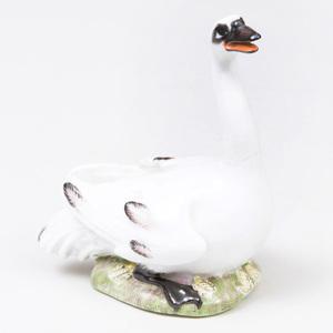 Meissen Porcelain Model of a Swan