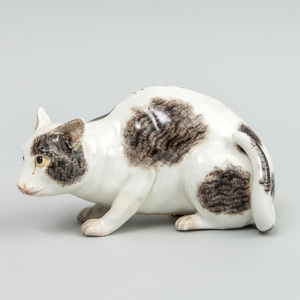 Meissen Porcelain Model of Prowling Cat
