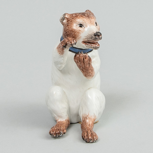 Meissen Porcelain Model of a Bear 'Sitsender Bar'